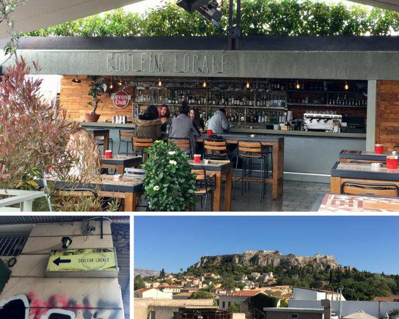 Le rooftop Couleur Locale : un bar avec vue sur l'Acropole à Athènes