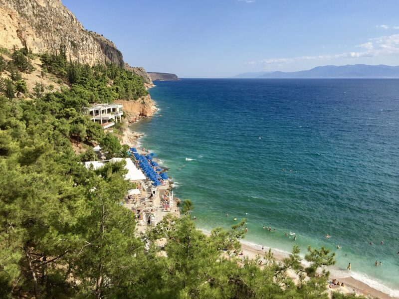 Nauplie, la plage d'Arvanitia
