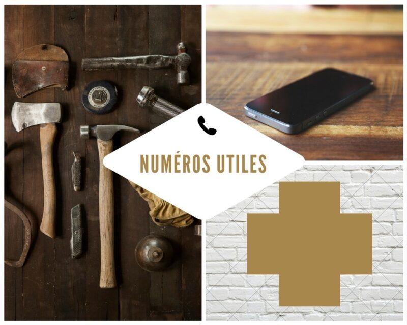 Les numéros utiles et pratiques