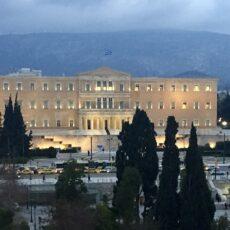 Vue générale de la place Syntagma à Athènes