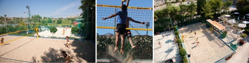 Les terrains de beach-volley The Wall