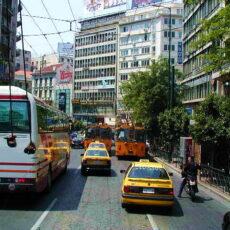 transports dans athenes
