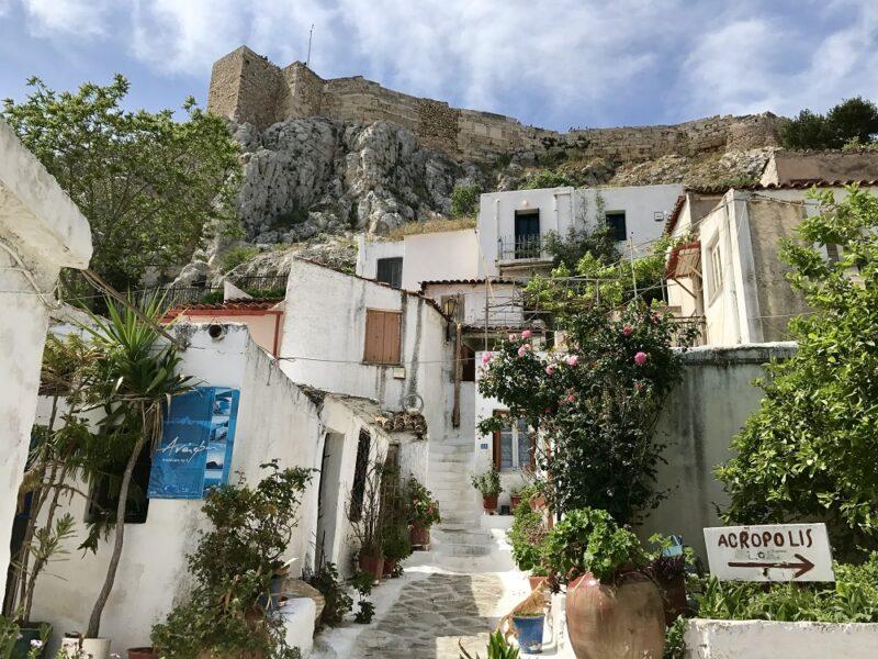 Le quartier Anafiotika à Athènes