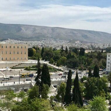 Vue depuis le restaurant 2 place Syntagma