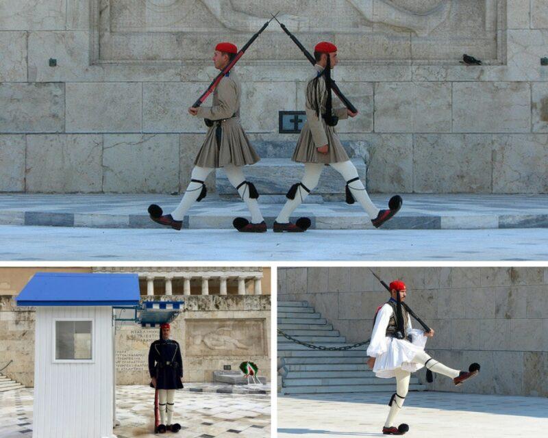 Les evzones place Syntagma à Athènes