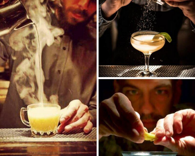 Préparation des cocktails chez Baba au Rum Athènes