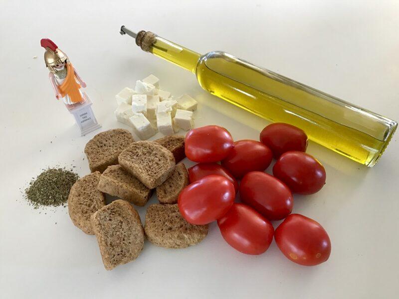 Les ingrédients du Dakos crétois