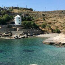 La baie de Koundouros à Kéa