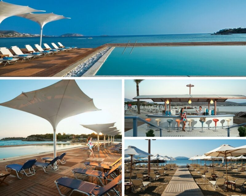 Plage, piscine et bar de Grand Beach Lagonissi