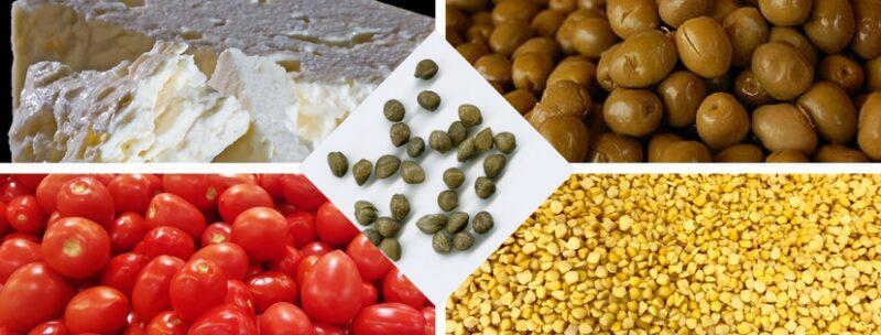 mezzes legumes grece