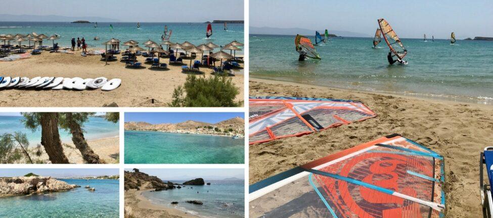 Les plages de l'île grecque de Paros : New Golden Beach, Drios, Kolymbithres, Santa Maria et une crique près d'Ambelas