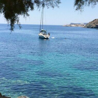 l'île de Sifnos dans les Cyclades, plage de Faros