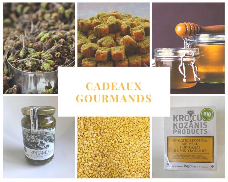 Souvenirs et cadeaux grecs : Origan, pâtisseries grecques, miel, kritamos, fava et infusions au safran