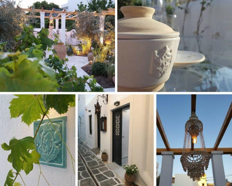 Le décor du restaurant de Fred Chesneau à Paros, Stou Fred