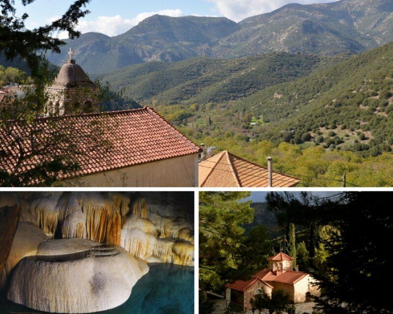 Village de Montagne, Grotte des lacs, Aghia Lavras