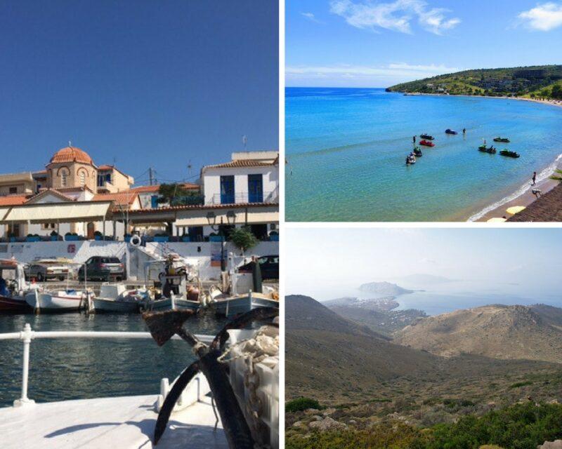 Egine : Perdika, Aghia Marina, Montagnes