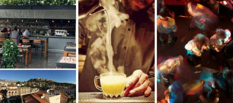 soiree-a-athenes-festive bar terrasse cocktails