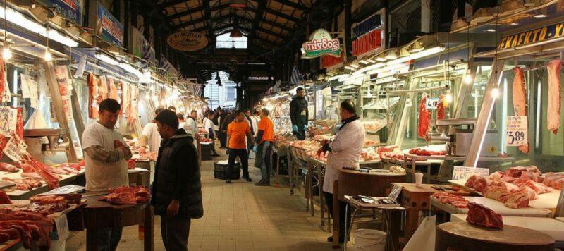 Athènes quand il pleut : visiter le marché central