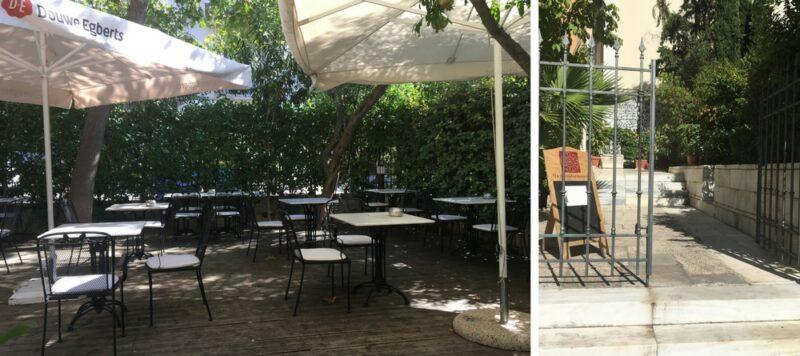 kapodistriakon café club restaurant terrasse athenes