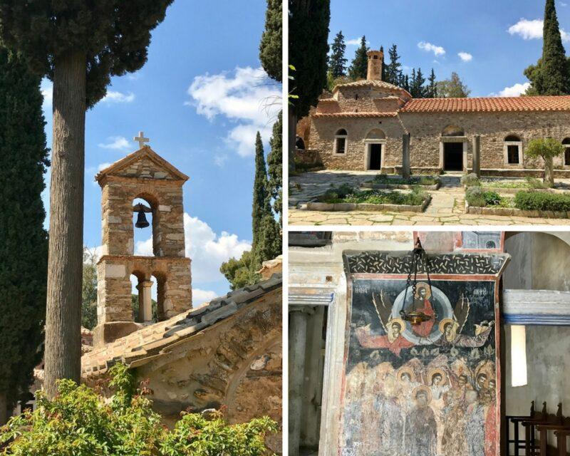 Le monastère de Kaisariani ou Kessariani autour d'Athènes