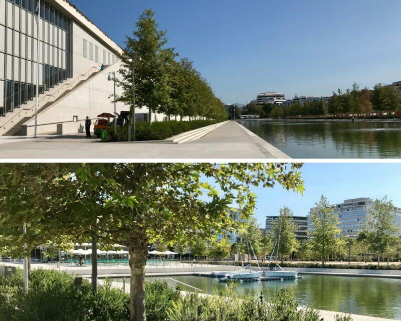 Le canal du parcs stavros niarchos à Athènes
