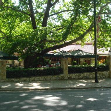 L'extérieur du restaurant O Telis à Pendeli