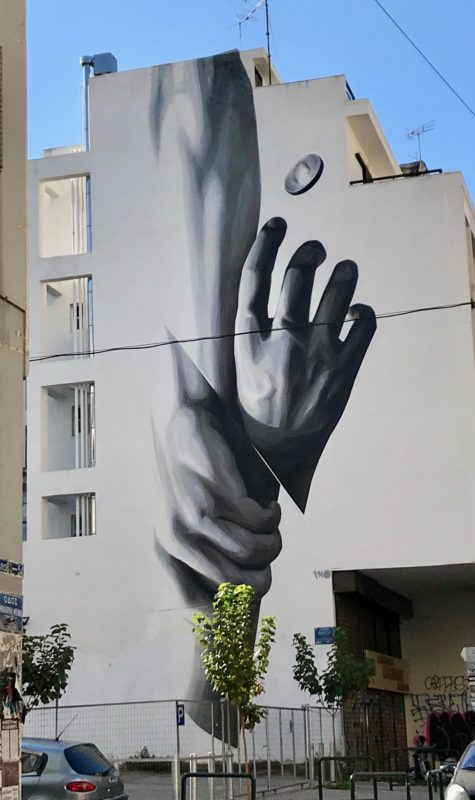 Street-art et graffitis à Athènes : Wake Up par Ino