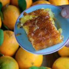 La recette du gâteau à l'oange, portokalopita en grec