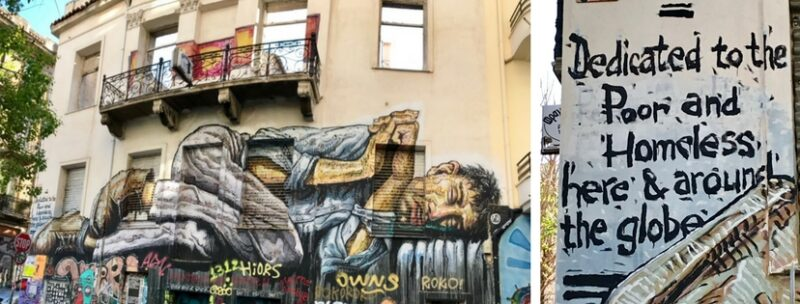 Street-art, graffiti Athènes WD à Exarchia