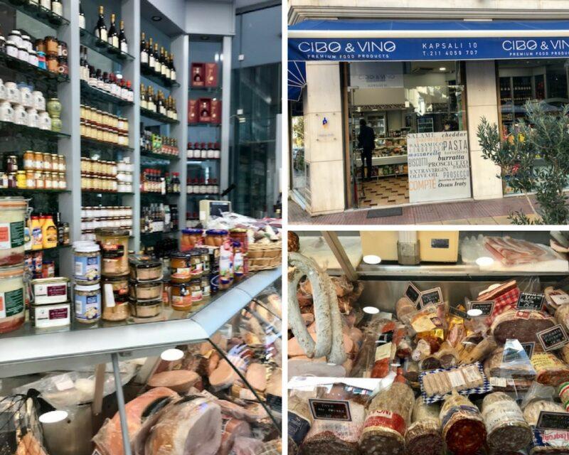 Epicerie fine pour acheter des produits français à Athènes : Cibo & Vino