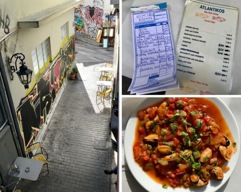 Manger pas cher à athènes : restaurant Atlantikos