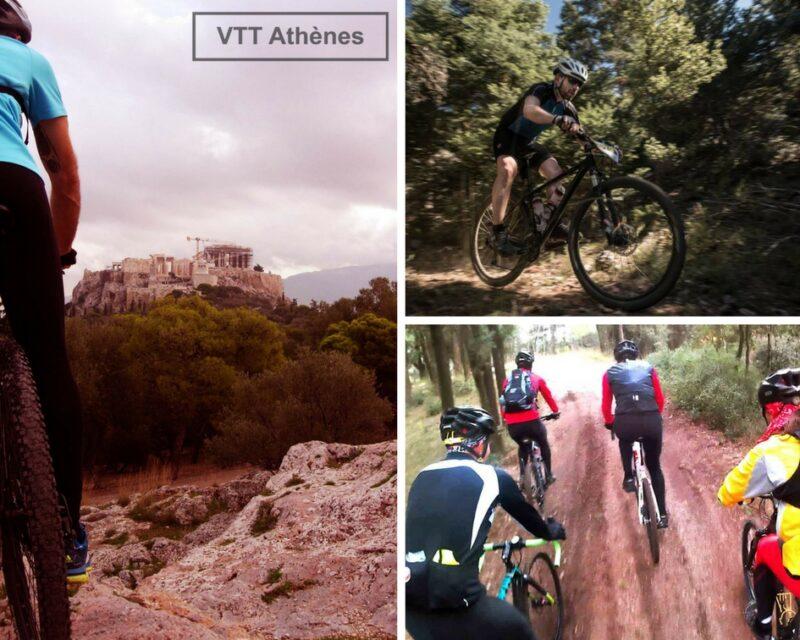 parcours vtt dans les collines d'Athènes
