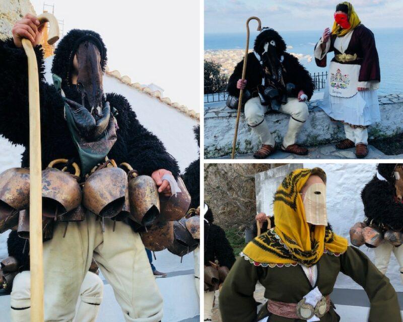 skyros ile grecque tenues traditionelles carnaval