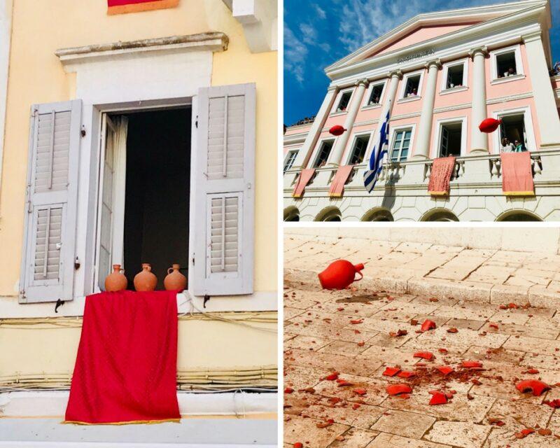 Corfou jarres rouges de Pâques