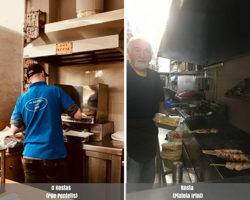 Manger pas cher athenes street food souvlakis