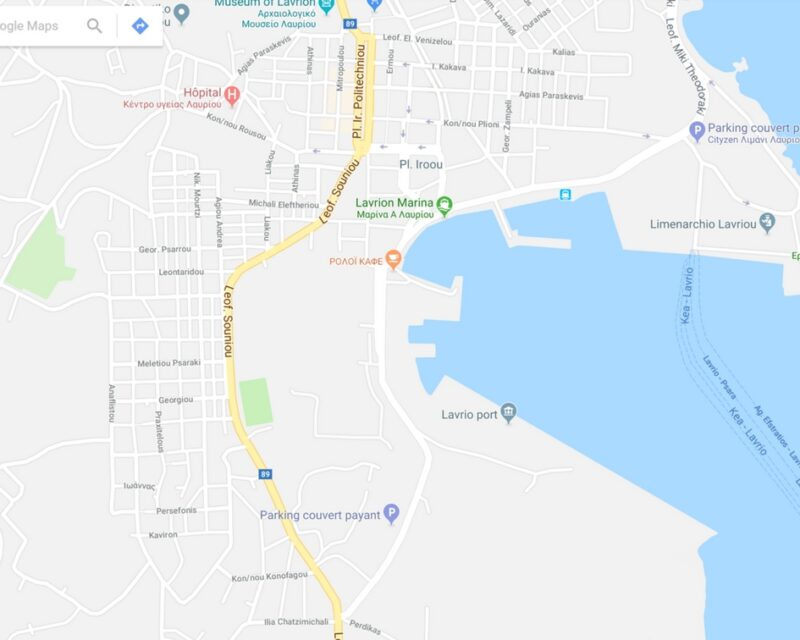 Les ports Athènes : le port de Lavrio