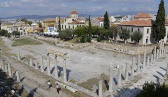 Visiter Athènes : l'agora romaine
