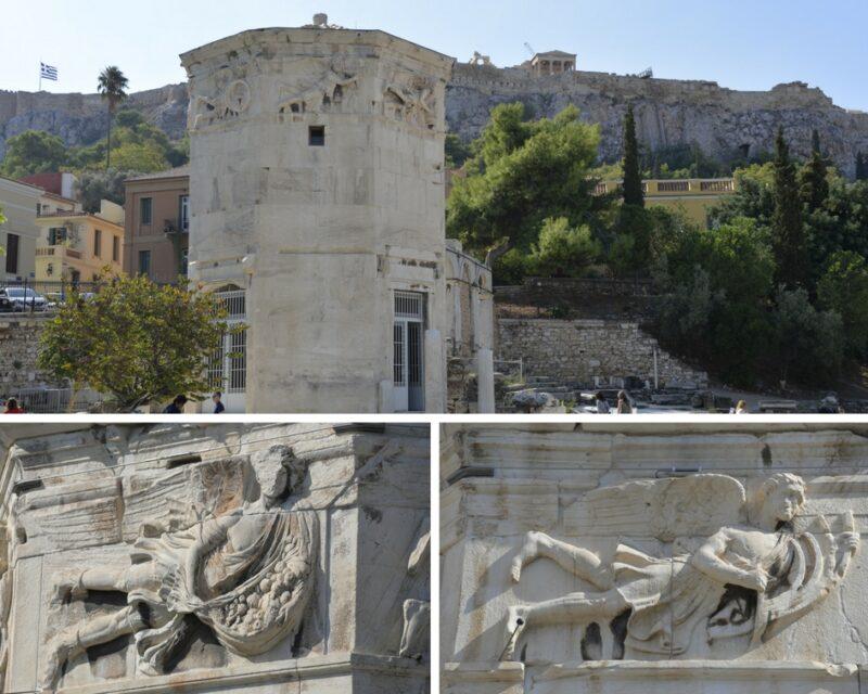 Visiter Athènes : la tour des vents et l'agora romaine