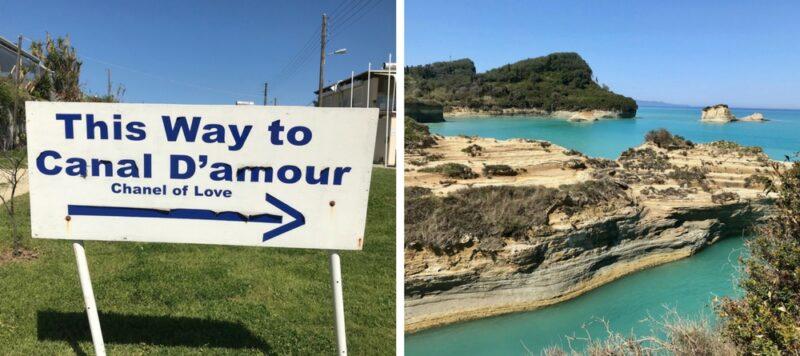 L'île de Corfou en Grèce : best of - canal de l'amour Corfou
