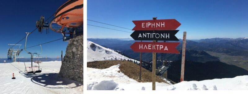 La station de ski de kalavrita en Grèce