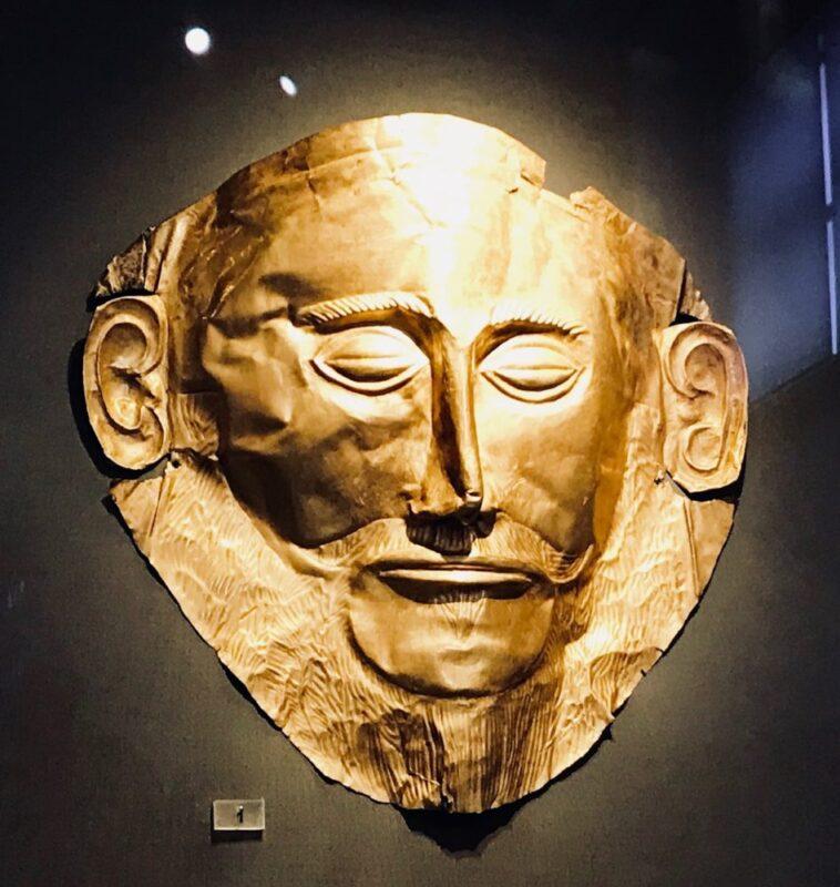 Le musée archeologique d'Athènes : le masque d'Agamemnon