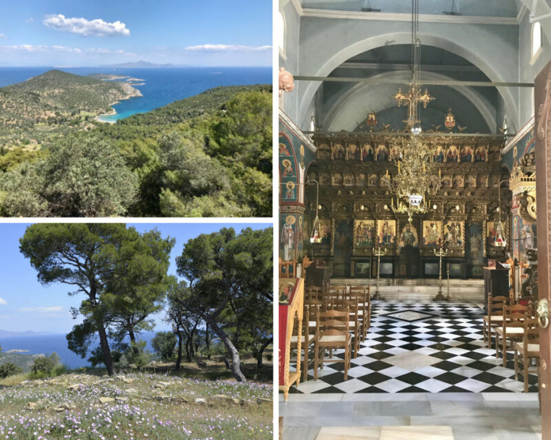 Poros, une île grecque proche d'Athene