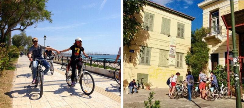 visiter Athènes à vélo électrique riviera athenienne plaka