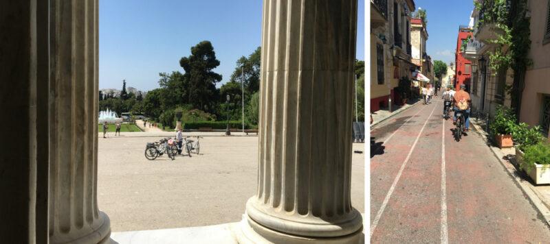 visiter Athènes à vélo électrique riviera athenienne plaka acropole