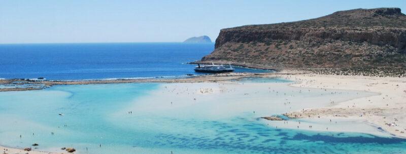 plage de balos crete sable blanc