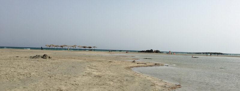 plage d'elafonissos crete sable blanc