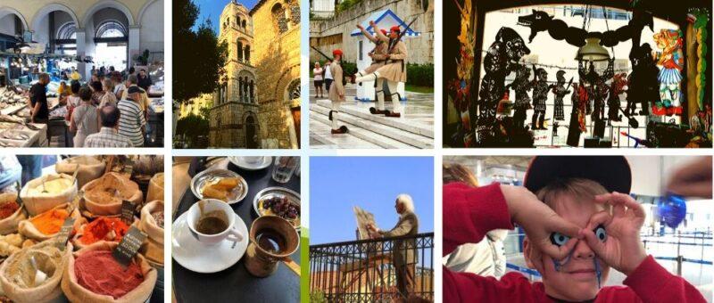 Visite Athènes, Visites du marché central, Visites gastronomiques, Eglises, Artisans, Enfants