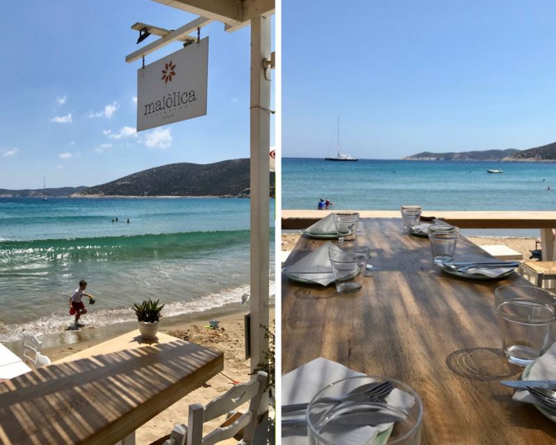 Bons restaurants à Sifnos sur la plage de Platis Yialos