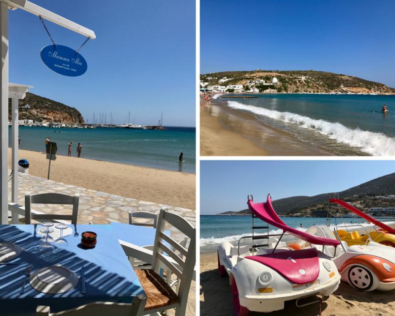 La plage de Platis Gialos à Sifnos