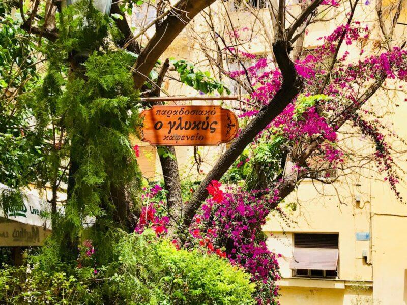 Glykis, une taverne traditionnelle à Athènes dans le quartier de Plaka